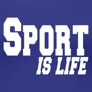 blue sport is life Women's T-Shirts - Women's Premium T-Shirt