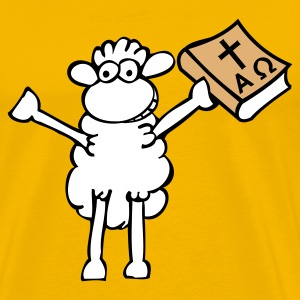 Yellow Bible-sheep Men's T-Shirts - Men's Premium T-Shirt