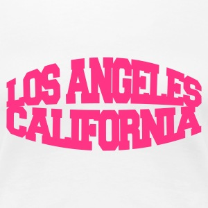 Bianco los angeles california T-shirt - Maglietta Premium da donna