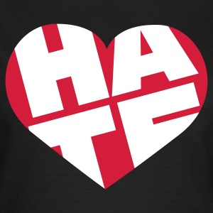 Chocolate Hate Heart | Hass Herz © T-Shirts - T-skjorte for kvinner