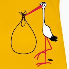 Yellow Stork Women's T-Shirts