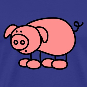 blue Little Pig Men's T-Shirts - Men's Premium T-Shirt