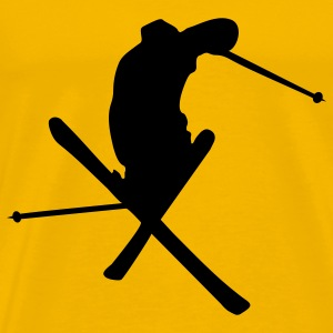 Yellow Ski - Freestyle Men's T-Shirts - Men's Premium T-Shirt
