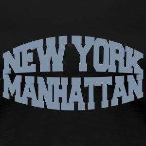 Nero new york manhattan T-shirt - Maglietta Premium da donna