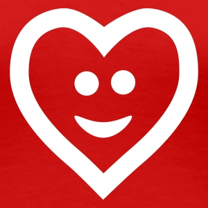 Rood Heart with smile T-shirts - Vrouwen Premium T-shirt