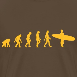 Brown Surfing Evolution 3 (1c) Men's T-Shirts - Men's Premium T-Shirt