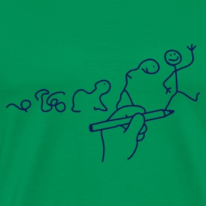 Moss green Evolution of Line Men's T-Shirts - Men's Premium T-Shirt