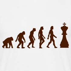 Sand beige Evolution of Chess 1 (1c) Men's T-Shirts