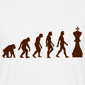 Beige arena Evolution of Chess 1 (1c) Camisetas - Camiseta hombre