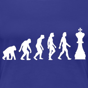 Turquoise Evolution of Chess 1 (1c) T-shirts - T-shirt Premium Femme