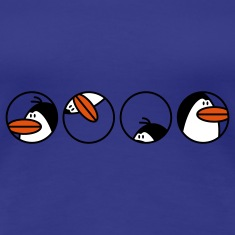 blue Penguins Women's T-Shirts
