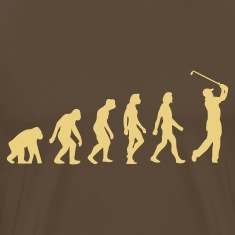 Marron bistre Evolution of Golf (1c) T-shirts