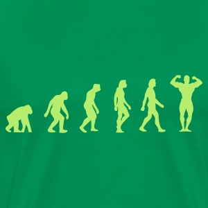 Bottlegreen Bodybuilding Evolution (1c) T-shirts - Mannen Premium T-shirt