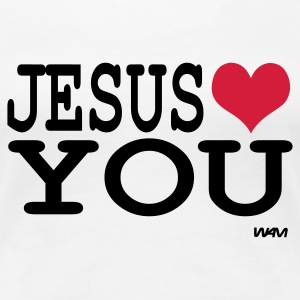 Bianco jesus loves you T-shirt - Maglietta Premium da donna