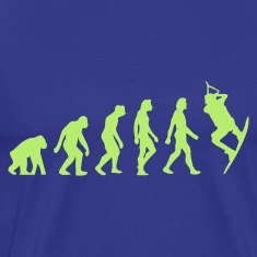 Divablauw Evolution of Kite Surfing (1c) T-shirts