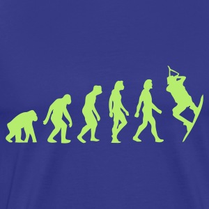 Divablauw Evolution of Kite Surfing (1c) T-shirts - Mannen Premium T-shirt