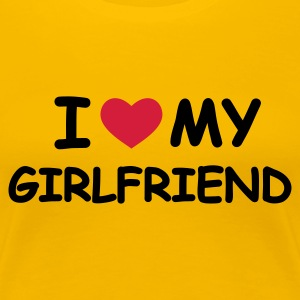 Hellrosa I Love My Girlfriend T-Shirts - Frauen Premium T-Shirt