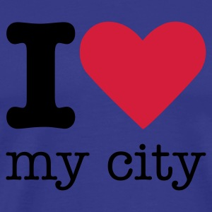 I Love My City T-shirts - Mannen Premium T-shirt