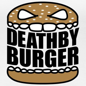 Death by Burger | Hamburger | Cheeseburger | Fast Food - Vrouwen Premium T-shirt