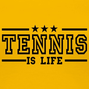 Gelb tennis is life deluxe T-Shirts - Frauen Premium T-Shirt