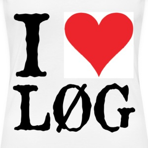 I LOVE LØG - Women's Premium T-Shirt