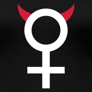 Black devil_woman_2c Women's T-Shirts - Women's Premium T-Shirt