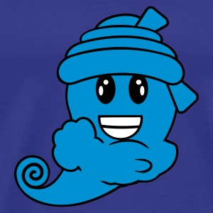 Blu royal genie smiley 3c T-shirt - Maglietta Premium da uomo