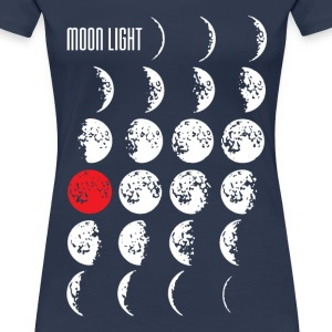 MOONLIGHT | Frauenshirt XXXL light navy - Frauen Premium T-Shirt