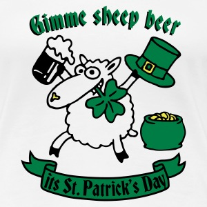White st_pattricks_sheep_white_3c Women's T-Shirts - Women's Premium T-Shirt