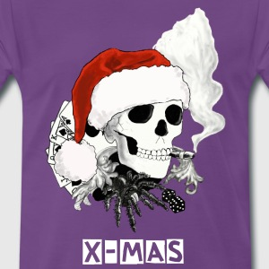 Christmas-skull - Men's Premium T-Shirt