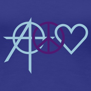 Divablauw anarchy peace love (2c) T-shirts - Vrouwen Premium T-shirt