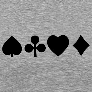 Spades diamond cross heart - card deck T-Shirts - Men's Premium T-Shirt