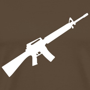 M16 M4 Rifle Gun Weapon machine T-shirts - T-shirt Premium Homme