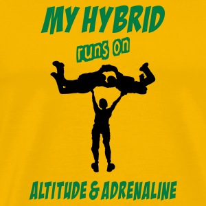 My Hybrid Runs On Altitude & Adrenaline - Men's Premium T-Shirt