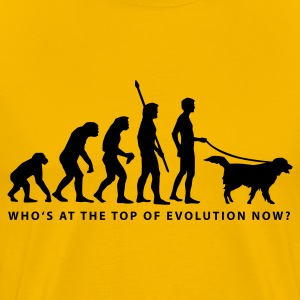 Yellow evolution_dog_b Men's T-Shirts - Men's Premium T-Shirt