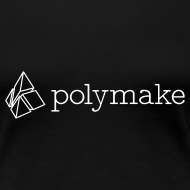 Design ~ polymake women's t-shirt (outlined logo)