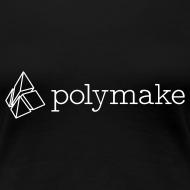 Design ~ polymake women's t-shirt (outlined logo)