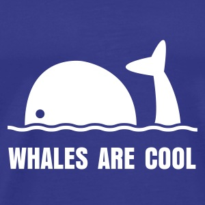 Whales are cool - Men's Premium T-Shirt
