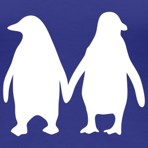 Penguins in love - love each other penguins Women's T-Shirts - Women's Premium T-Shirt