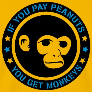PAY PEANUTS T-Shirts - Men's Premium T-Shirt