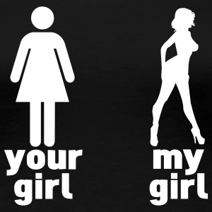 your girl vs my girl T-Shirts - Women's Premium T-Shirt