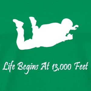 Life Begins At 13,000 Feet - Men's Premium T-Shirt