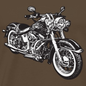 Noble brown chopper hog bike motorrad Men's T-Shirts - Men's Premium T-Shirt