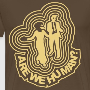 Edelbrun Are we human? - Disco Freaks T-skjorter - Premium T-skjorte for menn