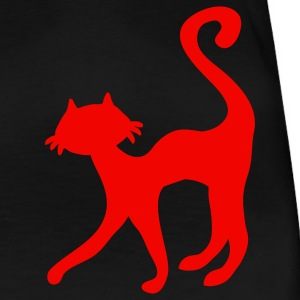 retro black cat sweet silhouette T-Shirts - Women's Premium T-Shirt