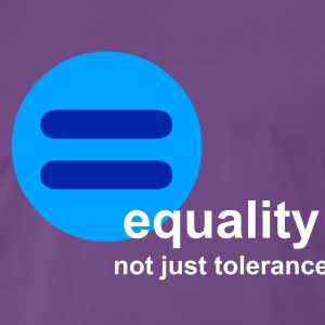 Equality, not just tolerance (indigo) - Men's Premium T-Shirt