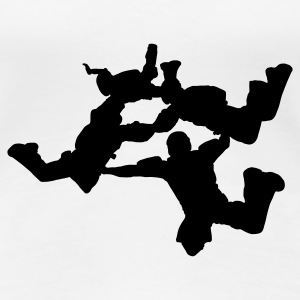 4-Way Skydiving - Women's Premium T-Shirt
