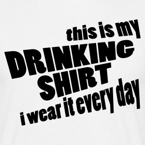 Zandbeige This is my drinking Shirt T-shirts - Mannen T-shirt