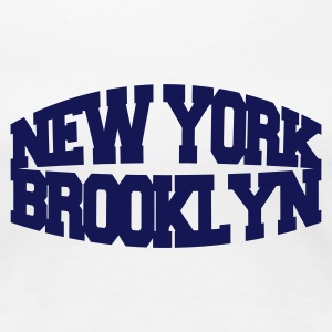 Wit new york brooklyn T-shirts - Vrouwen Premium T-shirt