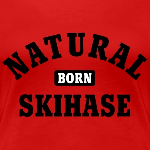 Natural born Skihase | Ski T-Shirts - Vrouwen Premium T-shirt
